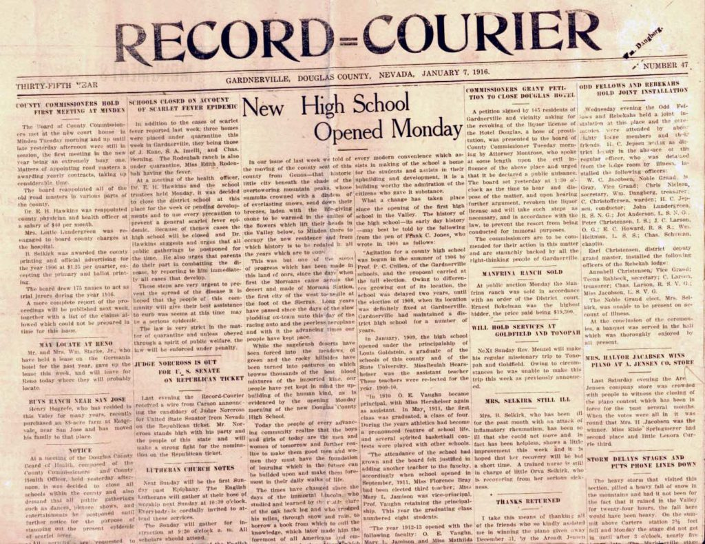 Record-Courier, January 7, 1916