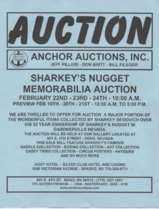 Handbill for the Auction of Sharkey's Nugget
