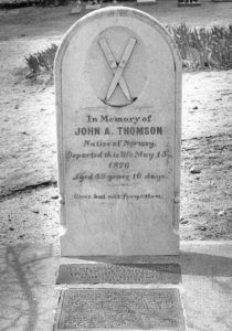 Snowshoe-Headstone