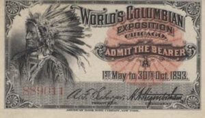 Colombian-Expo-1893-Ticket-Indian