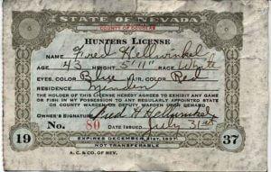 Hunters License