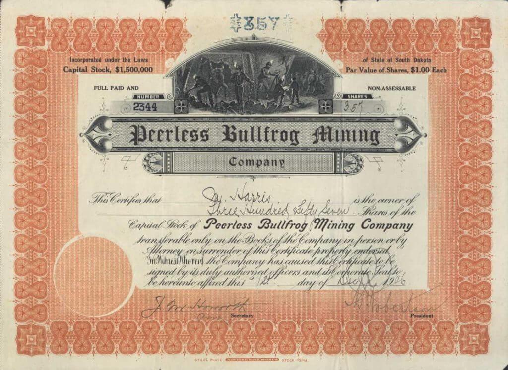 1906-Bullfrog-Stock-Cert